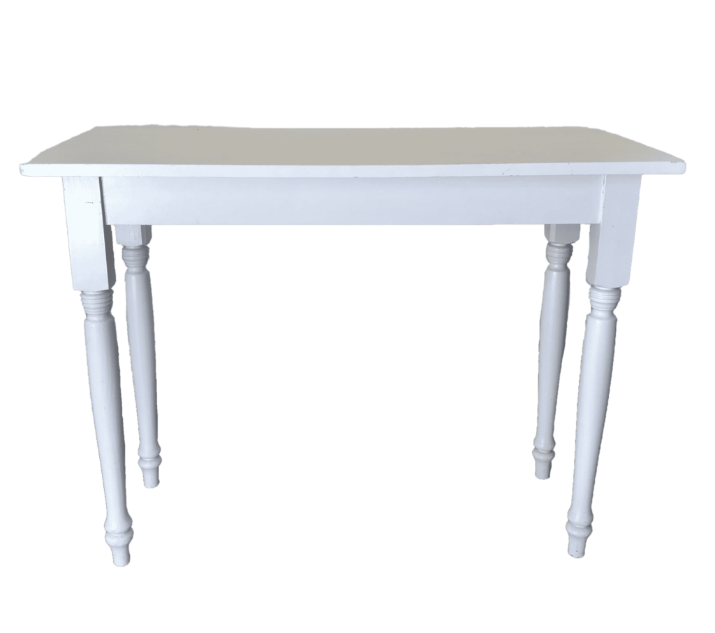 side table chabby chic ceremony altar wedding event rental