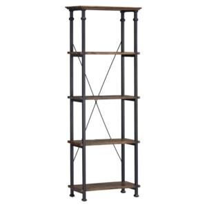 rustic metal wood shelf shelves event rental bar