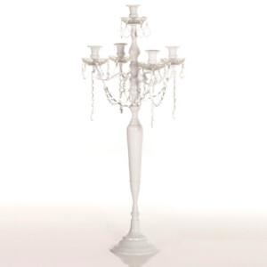 event decor rental candle holder crystal wedding centerpiece chandelier