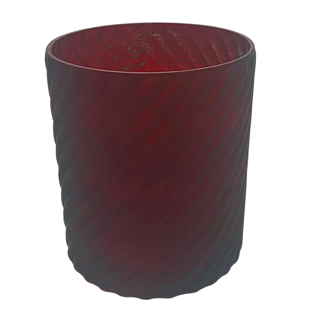 event decor rental red vase flower candle wedding centerpiece glass holiday christmas