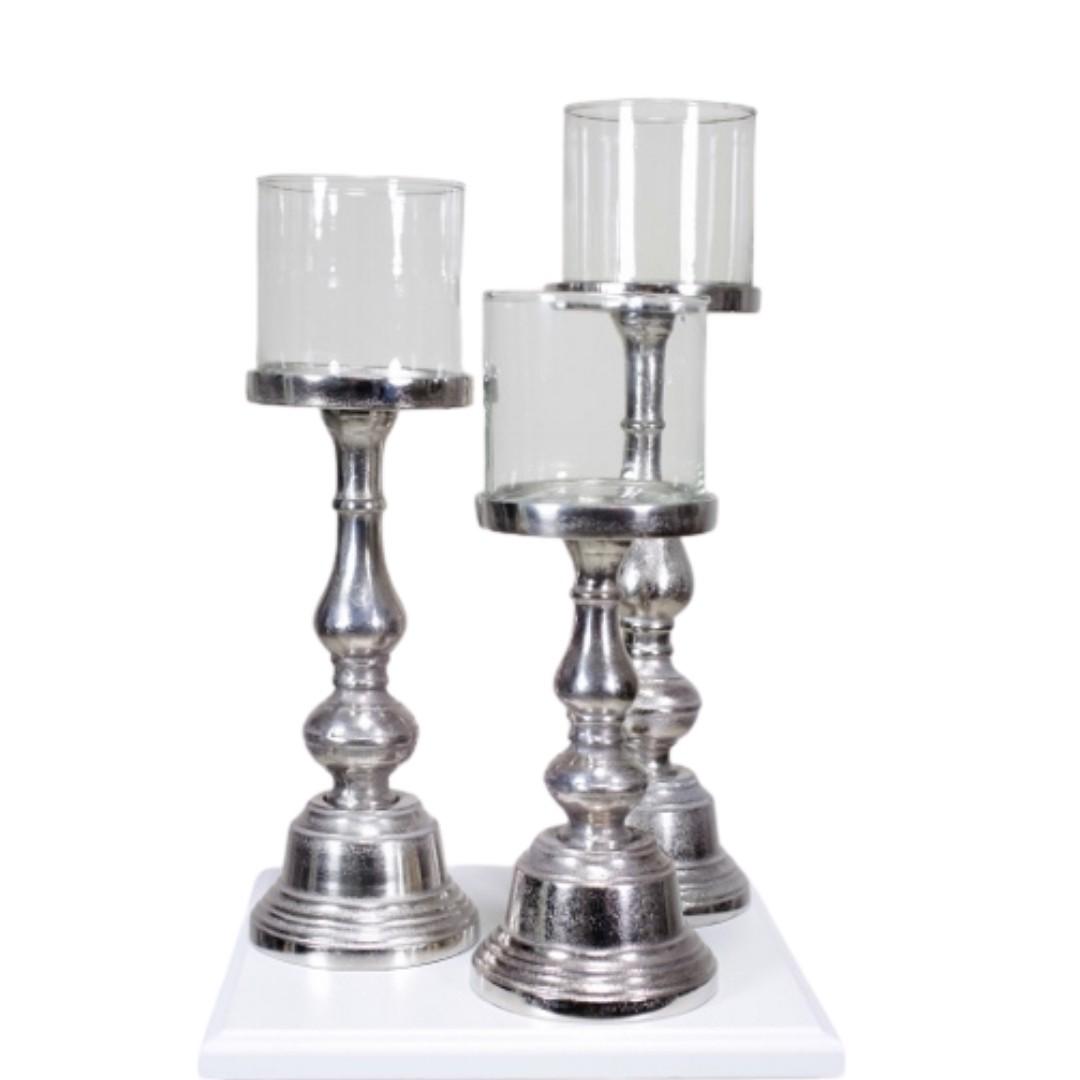 event decor rental gray grey candle candleholder floating wedding centerpiece