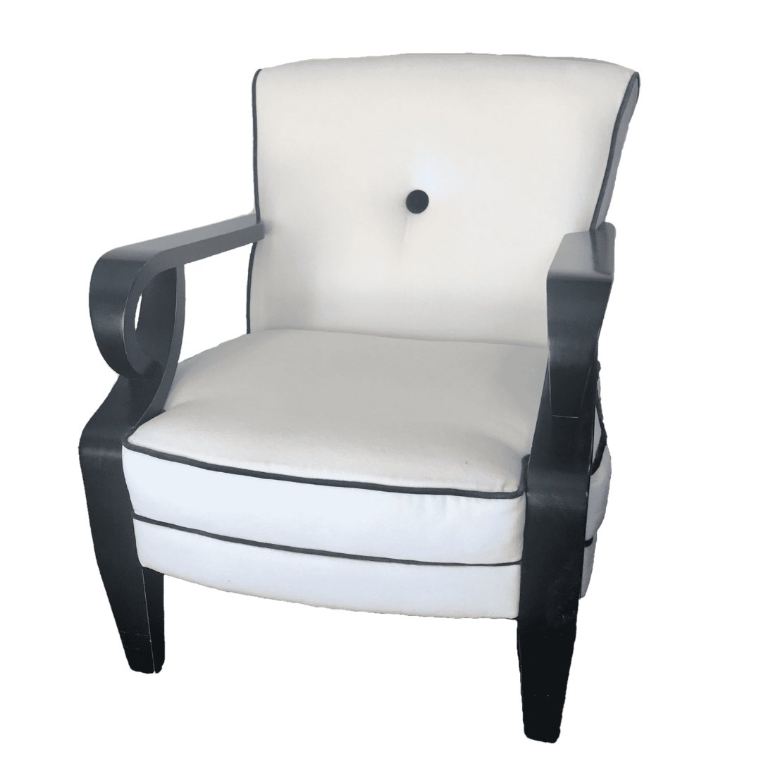event decor rental upholstered arm side occasional chair wedding lounge