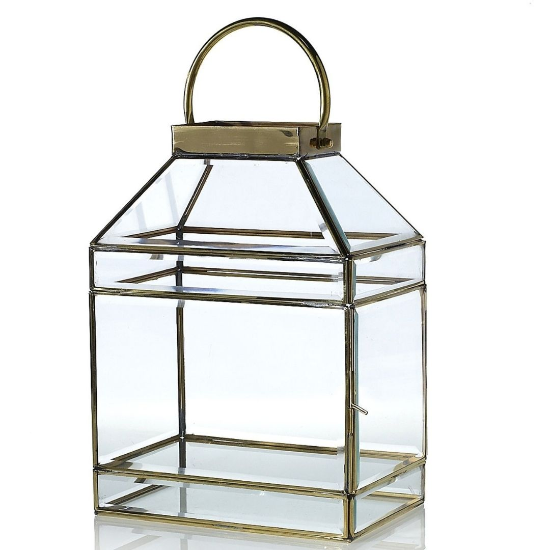 event decor rental glass card box gift candle holder wedding centerpiece