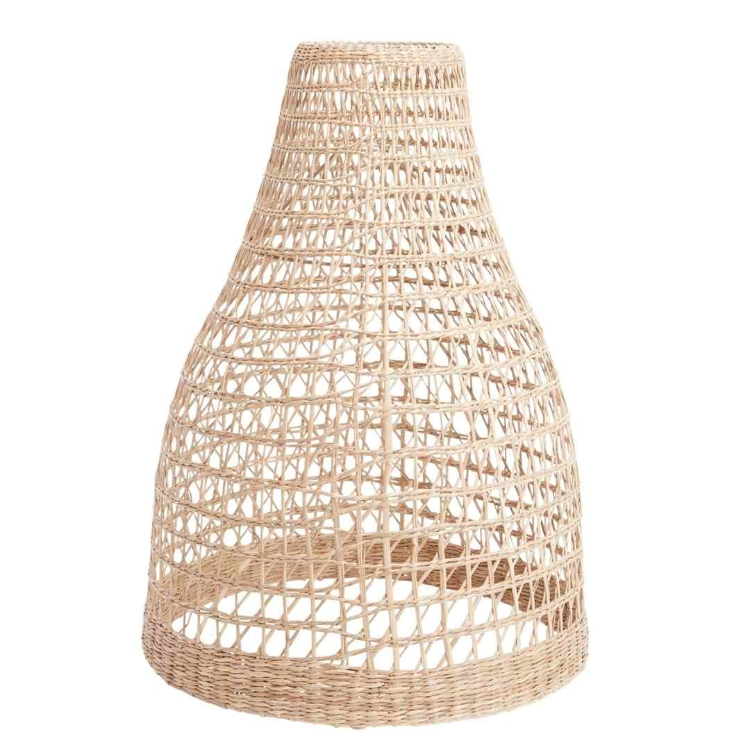event decor rental woven hyacinth willow wicker lamp shade wedding lounge ceiling