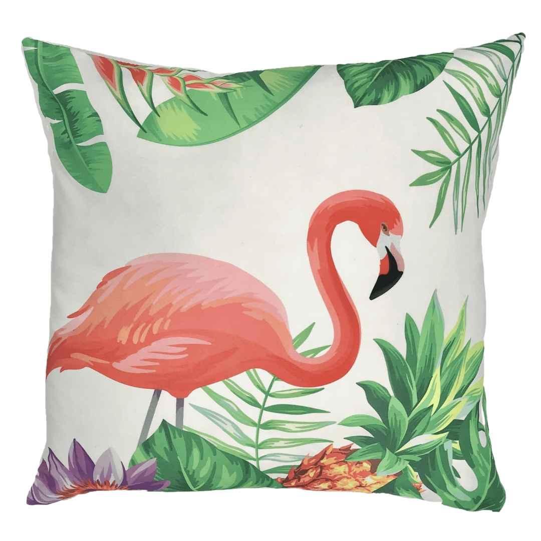 event decor rental flamingo key west palm leaves pink green white throw lounge wedding