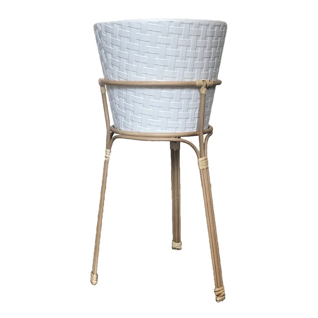 event decor rental potted bamboo woven metal vase lounge wedding reception