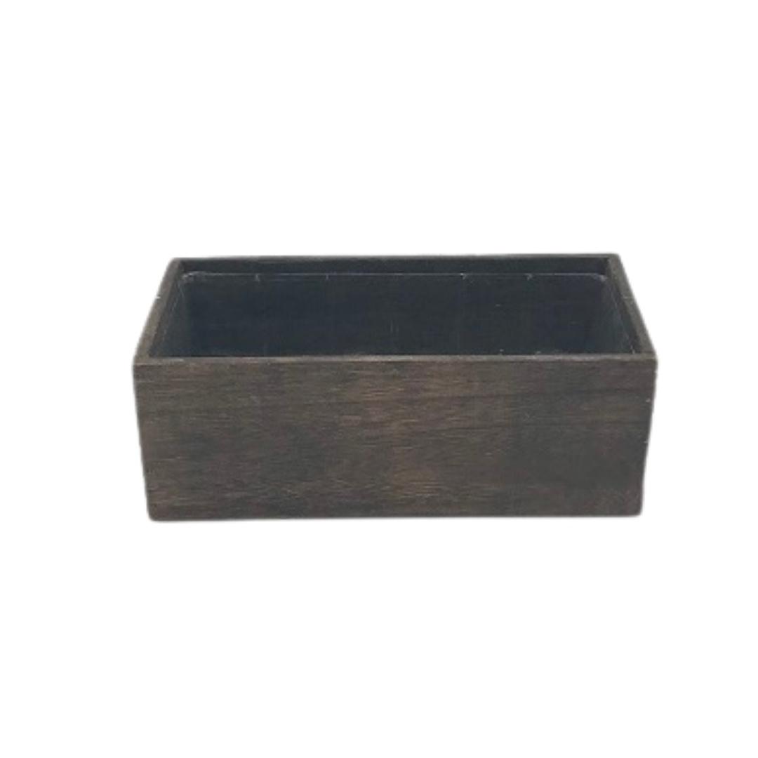 event decor rental wooden vase rectangle liner wedding centerpiece