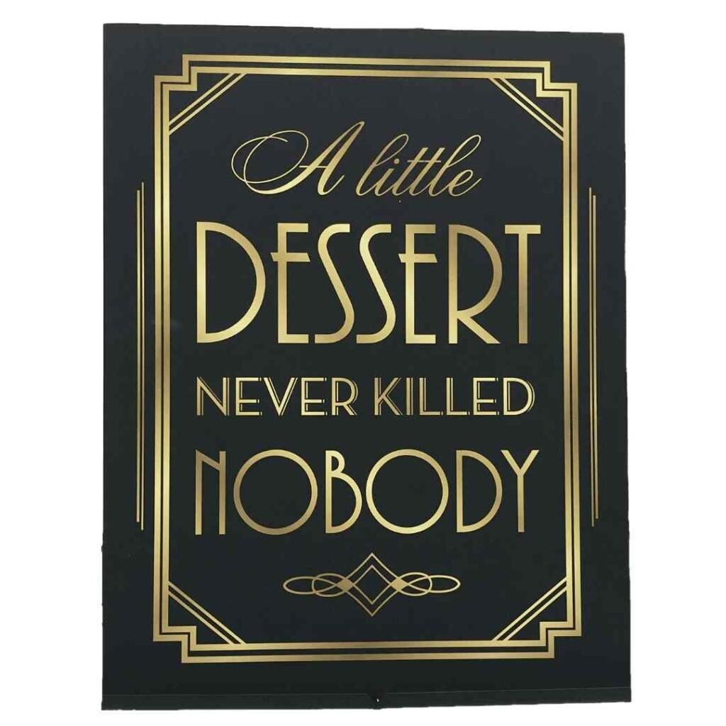 Dessert Sign 1920
