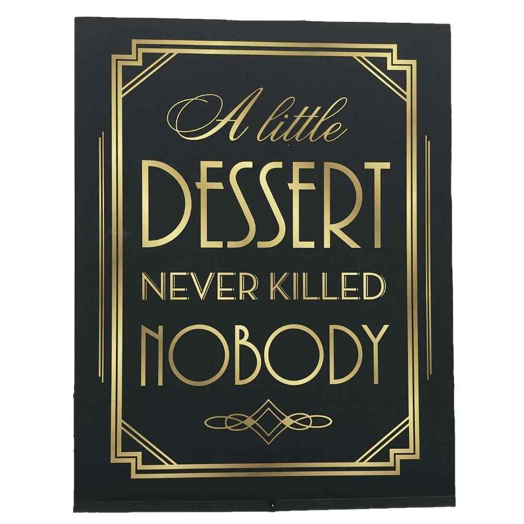 Dessert Sign 1920's