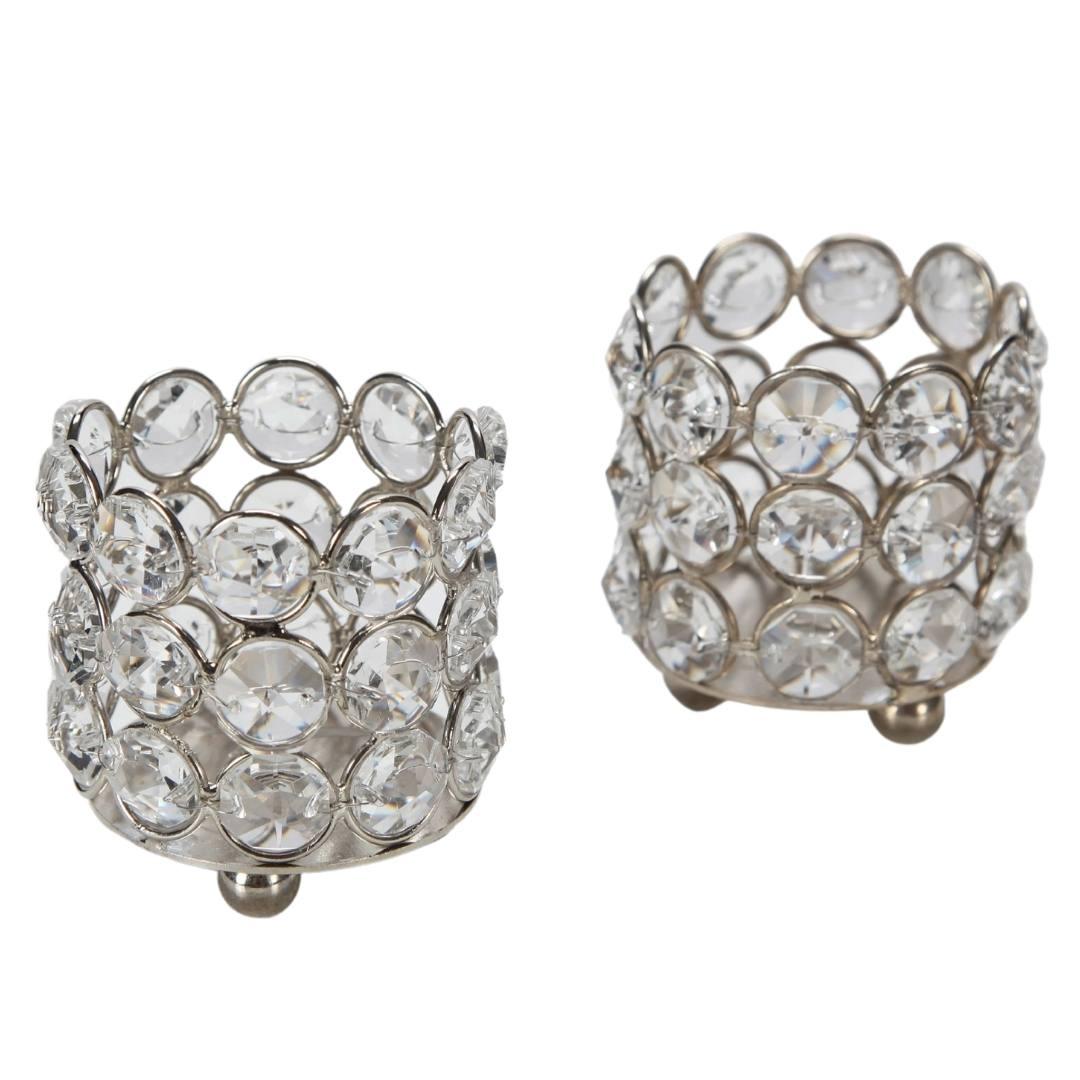 event decor rental votive candle holder gem crystal diamond wedding reception
