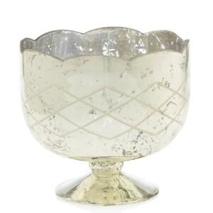 event decor rental gold mercury glass compote wedding centerpiece