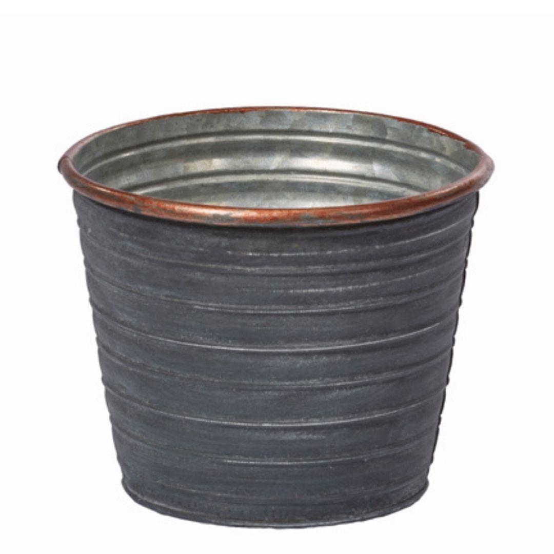 event decor rental copper metal vase bucket wedding centerpiece