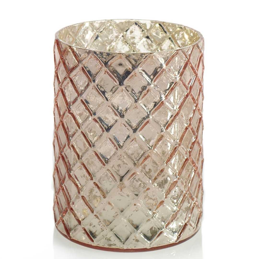 event decor rental pink candle holder mercury glass wedding centerpiece