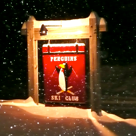 Penguins Ski Club sign in front of building.