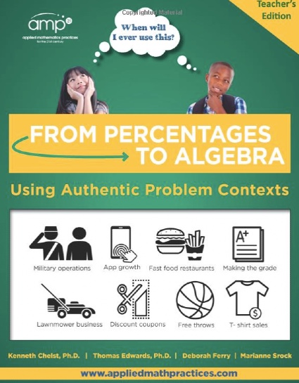 from percentages to algebra book cover
