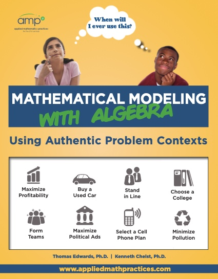 mathematical modeling with algebra book cover