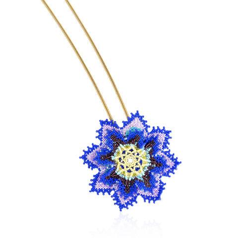 Colar Flor Azul
