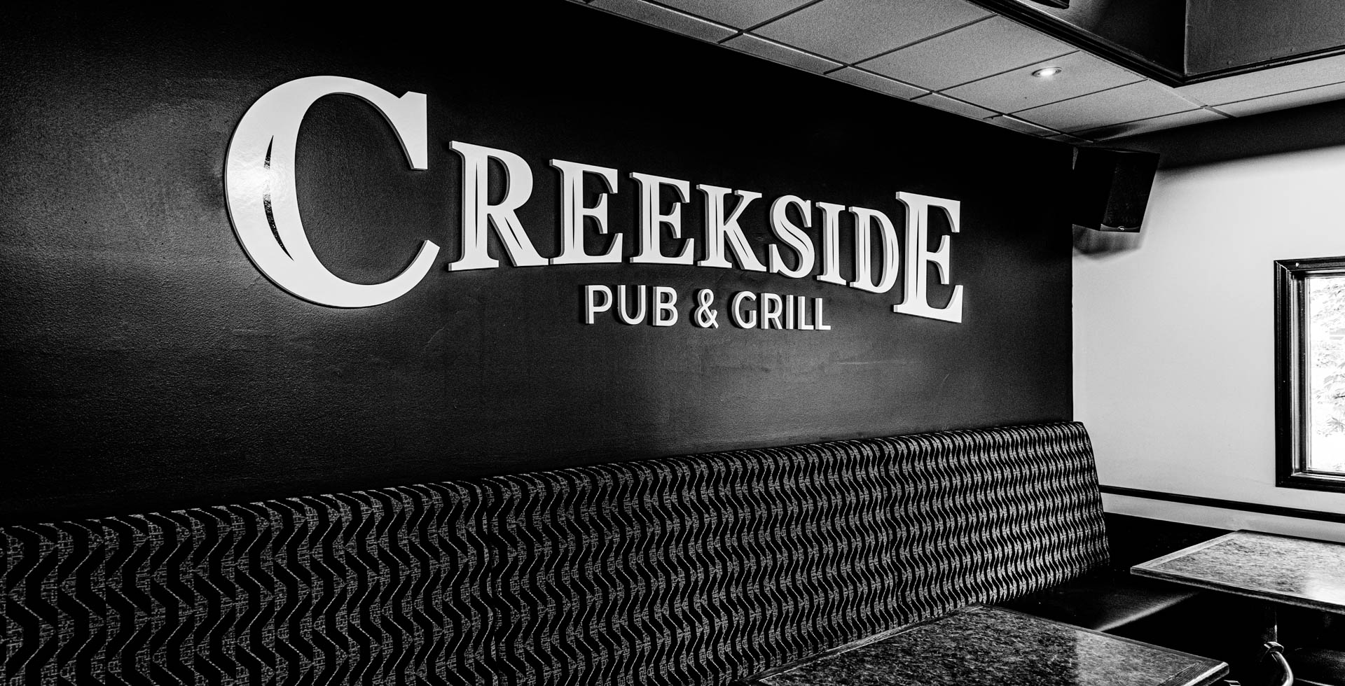 Creekside Pub and Grill Interior BW