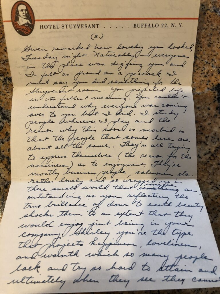 Mom and Dad - Love Letters, Buffalo
