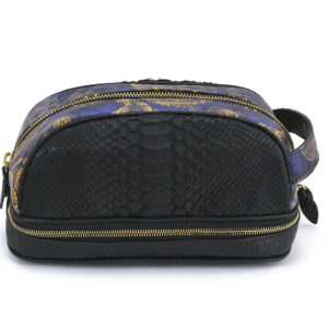 Amenity Black Python Paisley Leather Black Embossed Leather
