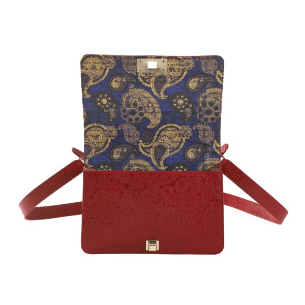 CrossBody clutch red blue stingray 2