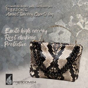 Natural Python-mid size clutch bag