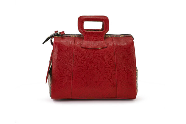 15 INCH DUFFEL RED EMBOSSED LADY B 1