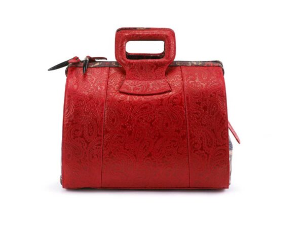 15 inch red rebirth Ganesh  prints hand bag