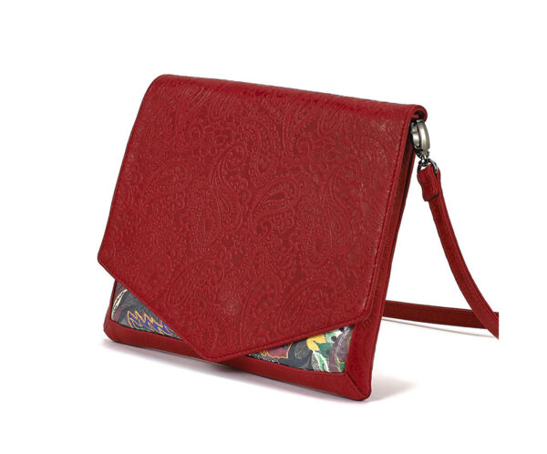 CROSSBODY RED EMBOSSED ENLIGHTENMENT 1
