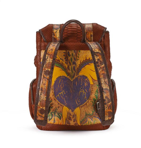 Love & Hope Cognac Python Backpack