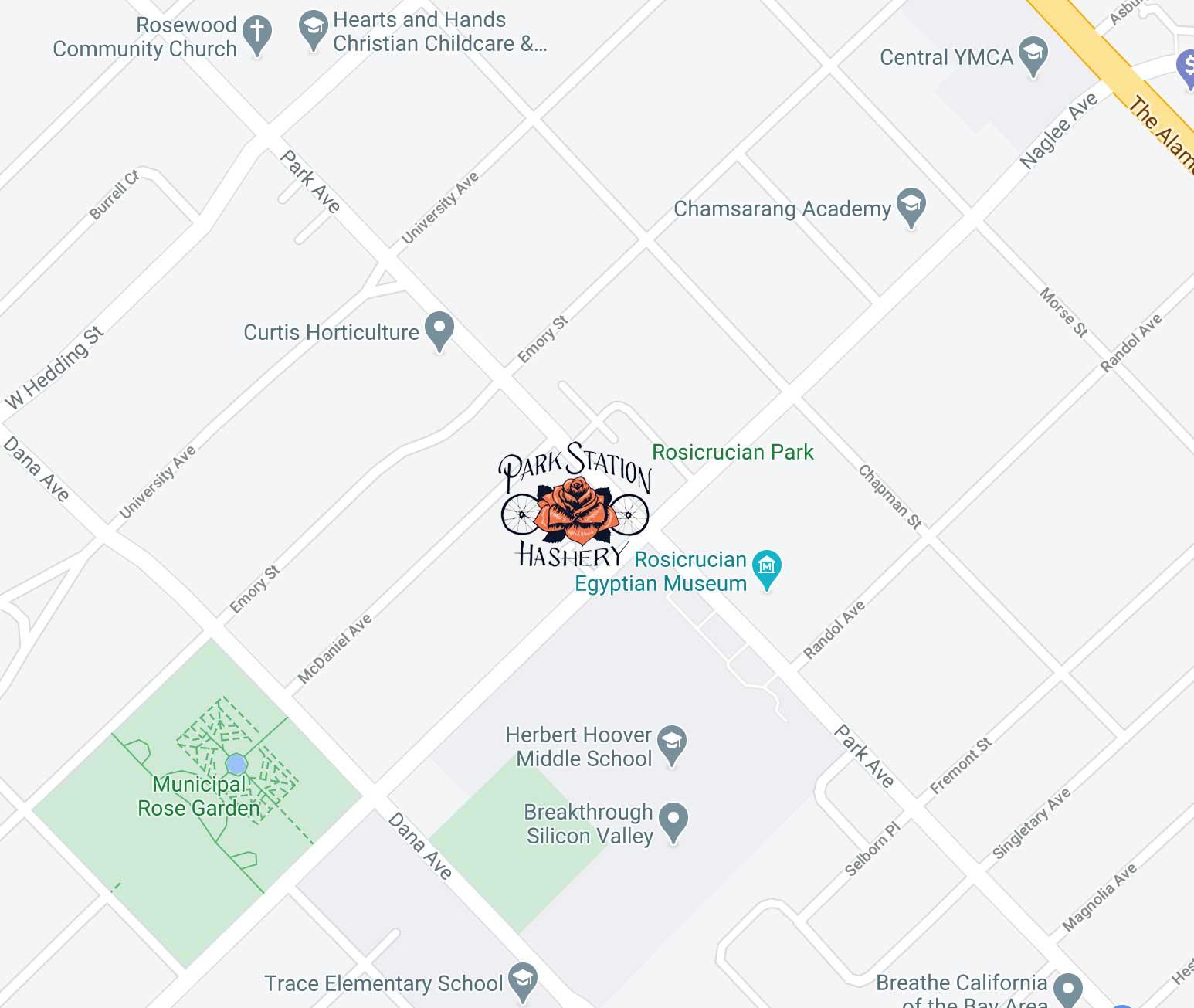 Park Station Hashery Location