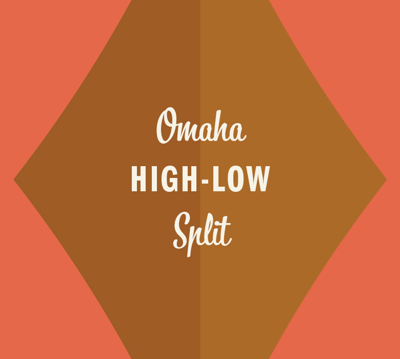 Omaha High-Low Split in gold diamond