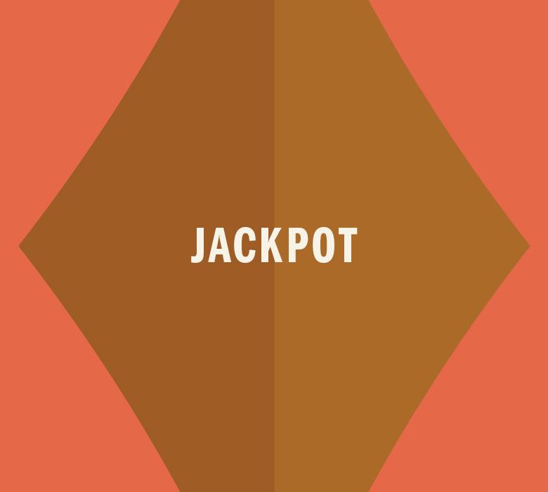 Gold Diamond that reads Jackpot