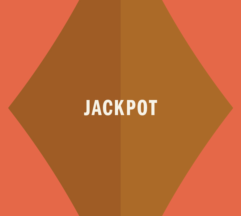 Gold Diamond that reads Jackpot