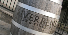 Barrell that says Riverbend on it