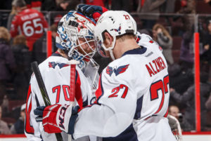Backstrom Makes Caps History in Fifth Sraight Win