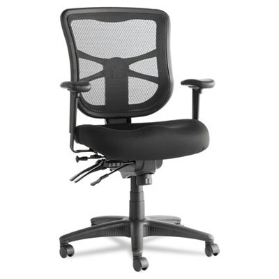 Alera Elusion Series Black Mesh Mid-Back Multifunction Chair