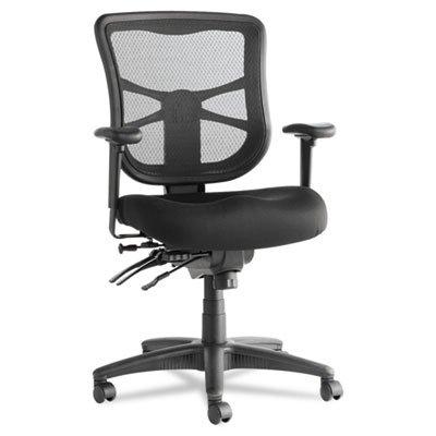 Alera Elusion Series Black Mesh Mid-Back Multifunction Chair