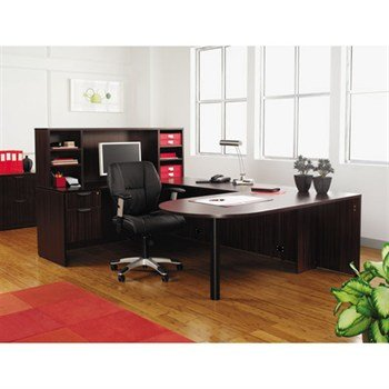 "Alera Valencia Series ""D-Top U-Desk"" Configuration"