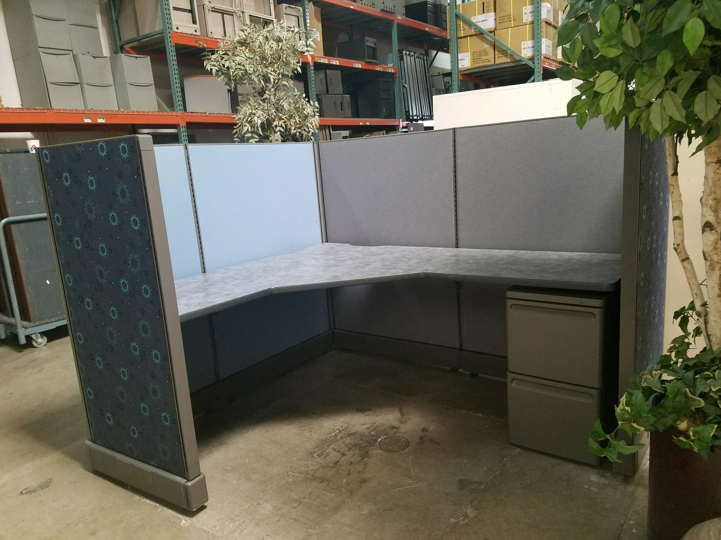 Used Herman Miller AO2 L Shaped Cubicles