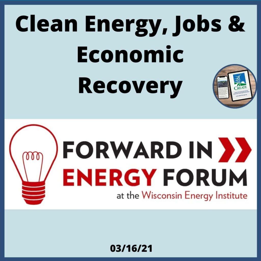 Clean Energy, Jobs & Economic Recovery