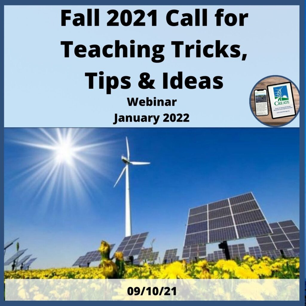 Fall 2021 Call for Teaching Tricks, Tips and Ideas