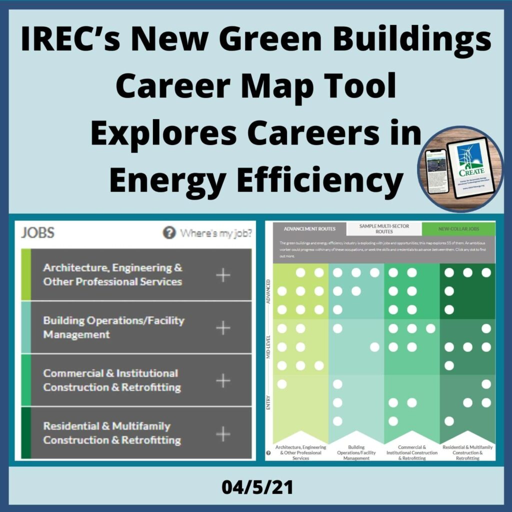 IREC's New Green Buildings Career Map Tool Explores Careers in Energy Efficiency