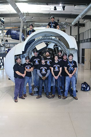 Students from the Iowa Lakes Community College Wind Energy Program