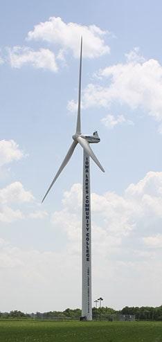 Wind turbine at Iowa Lakes Community College