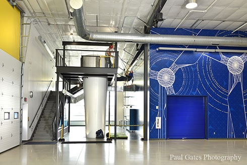 Indoor view Iowa Lakes Community College Wind Energy Facility