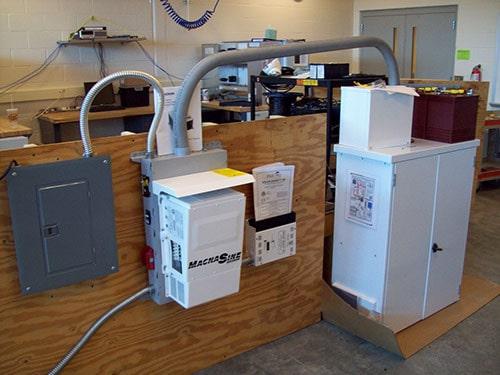 Equipment at Heartland Community College's Intro to Solar program