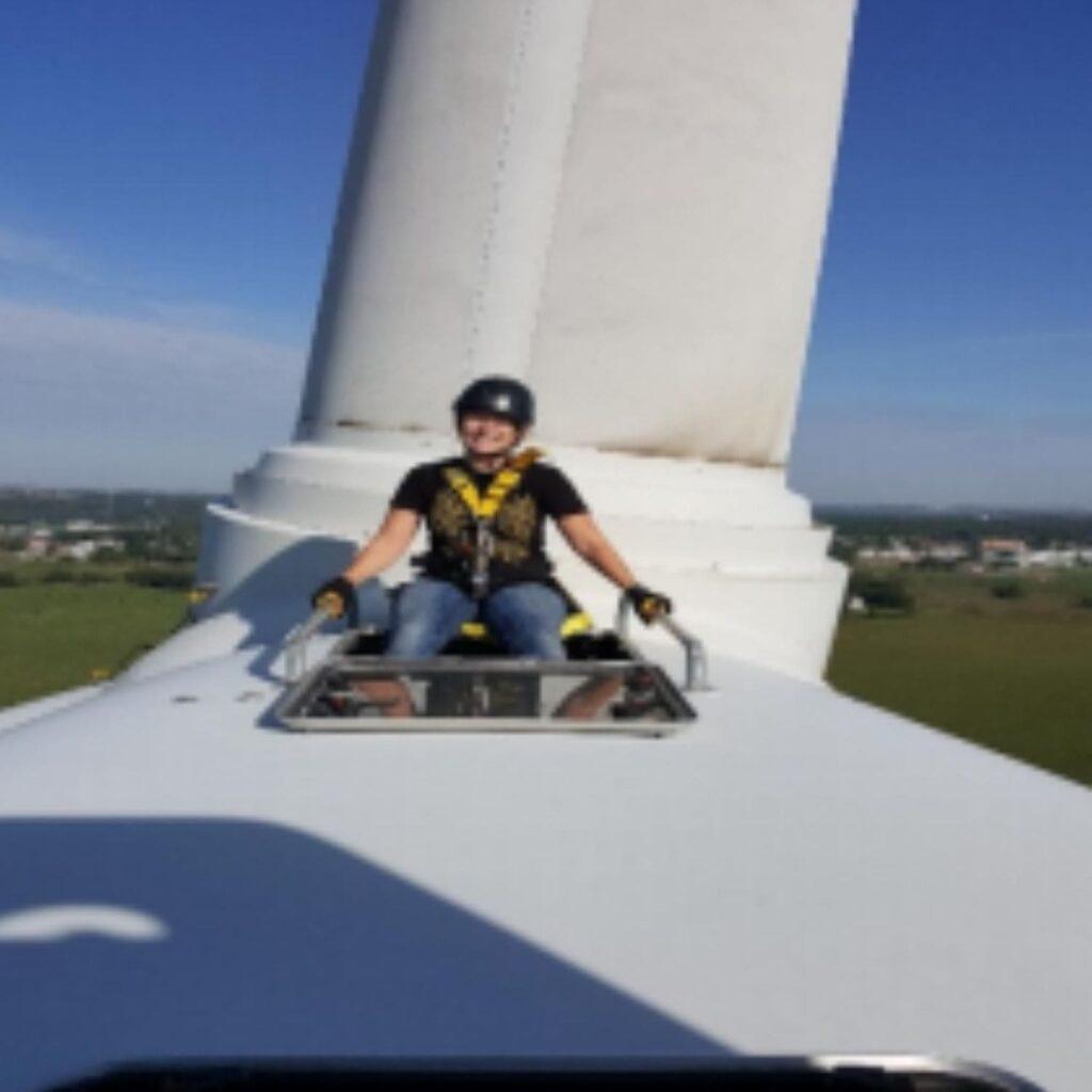 Jessie Moffitt, Iowa Lakes Community College alumni from the Wind Energy program