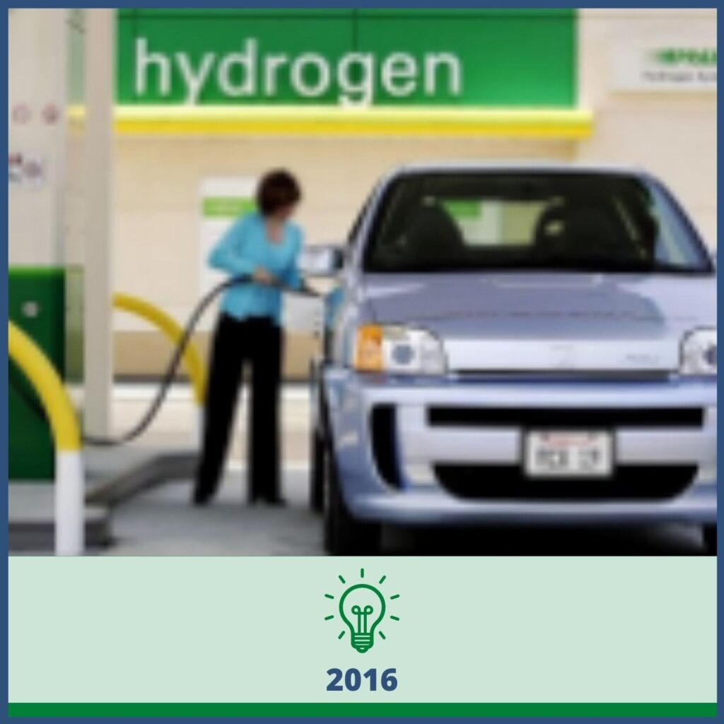 Woman fueling a car - 2016