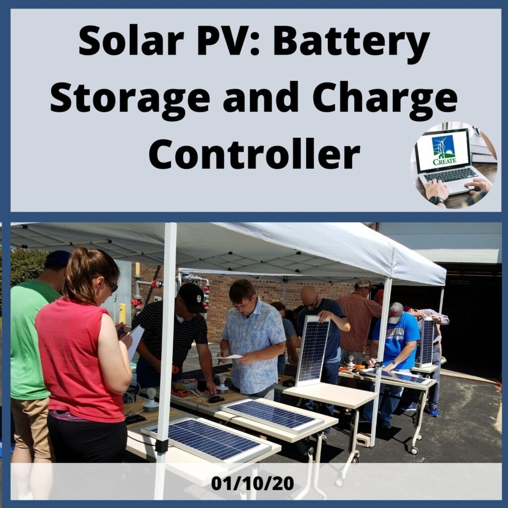 Solar PV: Battery Storage and Charge Controller